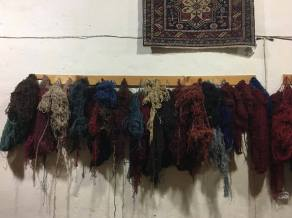 Dyed wool used to make the rugs.