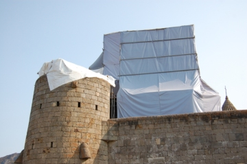 Reconstruction at Tatev.