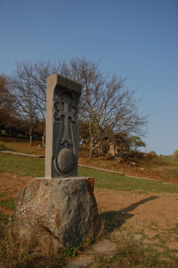 Khachkar in front of Tatev.