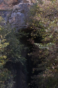 Cave entrance.