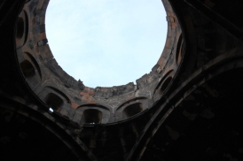 The collapsed Talin Cathedral dome.